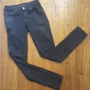 Nudie Skinny Sam Jeans Black Coated  26 x 31